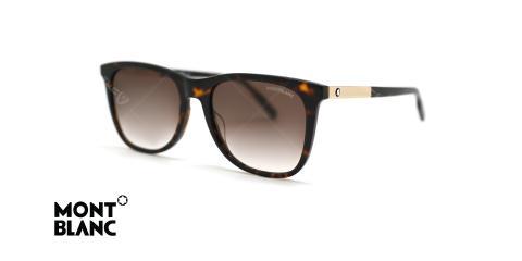 عینک آفتابی کائوچویی قهوه ای هاوانا مون بلان - زاویه سه رخ