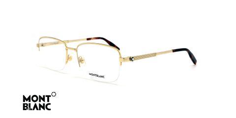 عینک طبی مونت بلانک - MONTBLANC MB0028 -عکاسی وحدت - زاویه سه رخ
