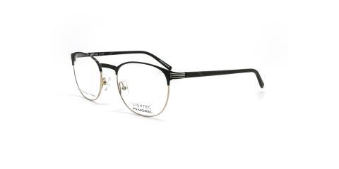 عینک طبی گرد لایتک - Lightec 30127L- عکاسی وحدت - مشکی طلایی - عکس زاویه سه رخ