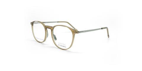 عینک طبی گرد لایتک - Lightec 30106L- عکاسی وحدت - عسلی - عکس زاویه سه رخ