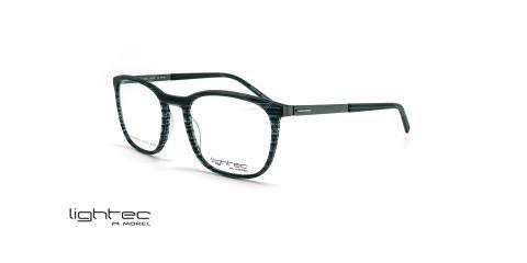 عینک طبی مربعی لایتک -  LIGHTEC 30025L - عکاسی وحدت - مشکی هاوانا - عکس زاویه سه رخ