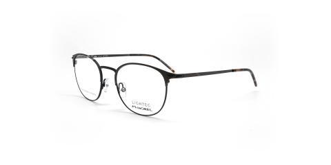 عینک طبی گرد لایتک - Lightec 30168L- عکاسی وحدت - مشکی  - عکس زاویه سه رخ