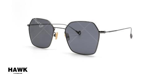 عینک آفتابی چند ضلعی فلزی مشکی رنگ هاوک