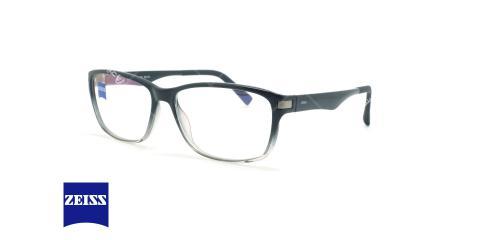 عینک کائوچویی مستطیلی زایس ZEISS ZS10003 - مشکی سفید - عکاسی وحدت - زاویه سه رخ