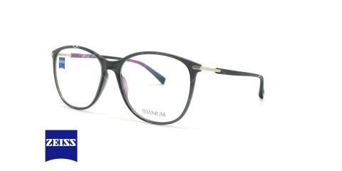 عینک طبی تیتانیوم زایس ZEISS ZS10011 - مشکی - عکاسی وحدت - زاویه سه رخ