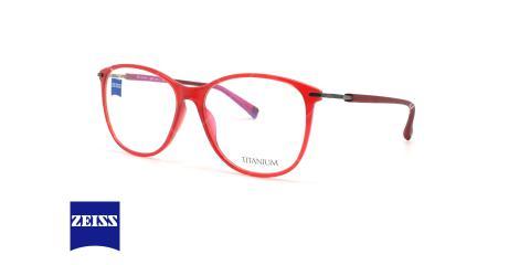 عینک طبی کائوچویی-تیتانیوم زایس ZEISS ZS10011 - قرمز - عکاسی وحدت - زاویه سه رخ