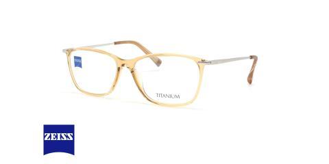عینک طبی مستطیلی زایس ZEISS ZS10013 - شیشه ای کرم - عکاسی وحدت - زاویه سه رخ