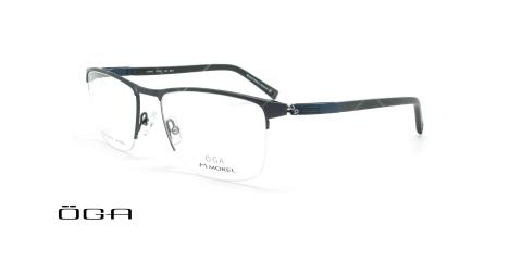 عینک طبی زیرگریف  اگا - OGA 10089O - مشکی - عکاسی وحدت - زاویه سه رخ