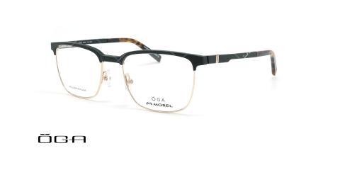 عینک طبی  اگا - OGA 10100O - مشکی طلایی - عکاسی وحدت - زاویه سه رخ