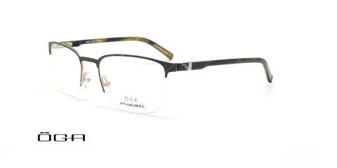 عینک طبی زیرگریف  اگا - OGA 10108O - مشکی نقره ای- عکاسی وحدت - زاویه سه رخ