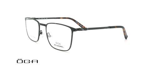 عینک طبی مستطیلی اگا - OGA 10114O - مشکی - عکاسی وحدت - زاویه سه رخ