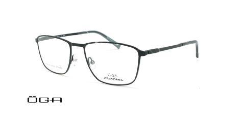 عینک طبی مستطیلی اگا - OGA 10116O - مشکی - عکاسی وحدت - زاویه سه رخ