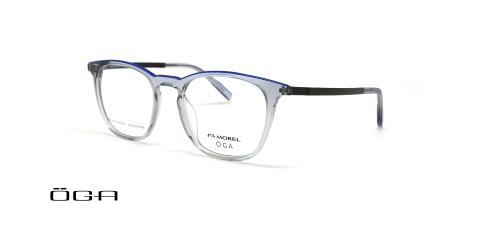 عینک طبی مربعی کائوچویی اوگا - OGA10140O- عکس از زاویه سه رخ