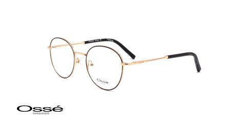 عینگ گرد فلزی اوسه - Osse OS12223- رنک فریم مشکی-طلایی - عکاسی وحدت- عکس زاویه سه رخ