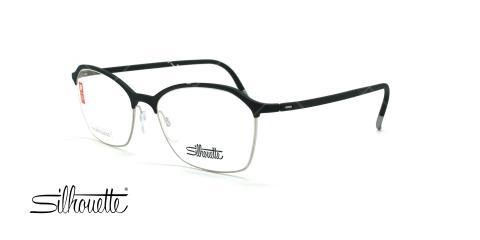 عینک طبی گربه ای سیلوئت - Silhouette1581 -مشکی نقره ای- عکس وحدت - زاویه سه رخ