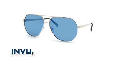 عینک آفتابی خلبانی اینویو - Invu M1802 - نقره ای - عکاسی وحدت - زاویه سه رخ