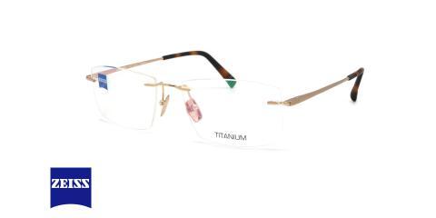 عینک گریف تیتانیومی زایس - ZEISS ZS60003 - رنگ سورمه ای - عکاسی وحدت - عکس زاویه سه رخ