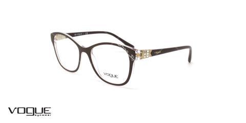عینک طبی گربه ای زنانه وگ - VOGUE VO5169 - رنگ قهوه ای - عکاسی وحدت - عکس زاویه سه رخ