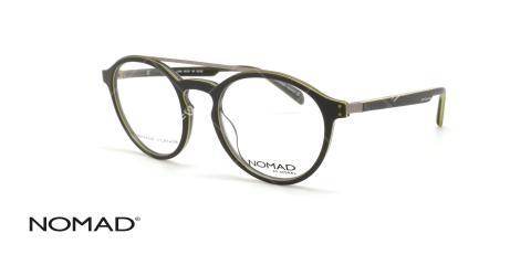 عینک گرد دوپل نوماد - NOMAD 3108N - فریم طوسی - عکاسی وحدت - عکس زاویه سه رخ