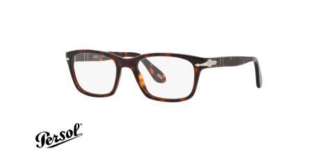 عینک طبی پرسول - PERSOL PO3012V - عکاسی وحدت- فریم قهوه ای - عکس زاویه سه رخ