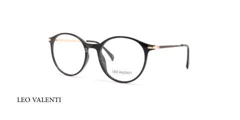 عینک طبی گرد لئو ولنتی - LEO VALENTI LV443 - عکاسی وحدت -  عکس زاویه سه رخ