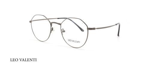 عینک طبی چندضلعی لئوولنتی - LEO VALENTI LV447 - فریم نقره ای  - عکاسی وحدت - عکس زاویه سه رخ