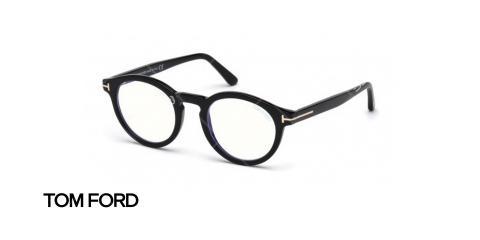 عینک طبی ام فورد - TOM FORD TF5529B - رنگ فریم مشکی - عکاسی وحدت - عکس زاویه سه رخ