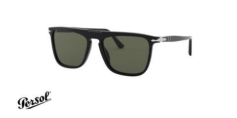 عینک آفتابی کائوچویی پرسول - PERSOL PO3225S - رنگ مشکی - عکاسی وحدت - عکس زاویه سه رخ