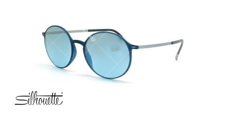 عینک آفتابی گرد سیلوئت - Silhouette Urban Sun 4075- آبی- عکس وحدت - زاویه سه رخ