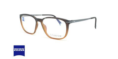 عینک طبی تیتانیومی زایس ZEISS ZS20004 - مشکی قهوه ای - عکاسی وحدت - زاویه سه رخ