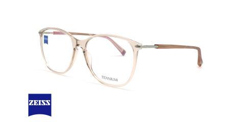 عینک طبی تیتانیوم زایس ZEISS ZS10011 - شیشه ای - عکاسی وحدت - زاویه سه رخ