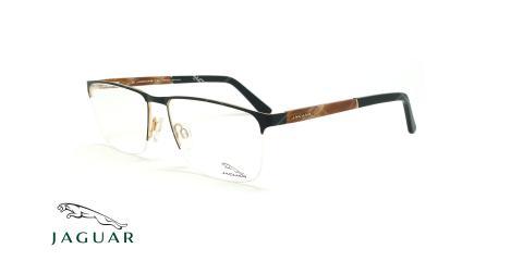 عینک طبی زیرگریف جگوار JAGUAR 33089 - مشکی طلایی - عکاسی وحدت - زاویه سه رخ