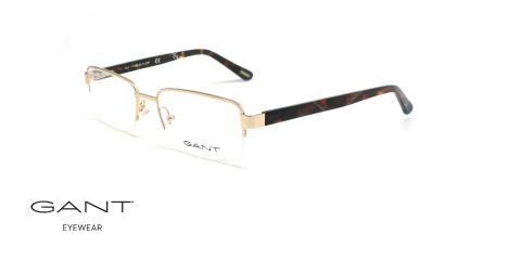 عینک طبی زیرگریف گانت -GANT GA3149 - طلایی - عکاسی وحدت - زاویه سه رخ
