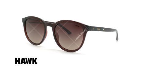 عینک آفتابی پلاریزه هاوک - HAWK POLARIZED HW1632 - قهوه ای - عکاسی وحدت - زاویه سه رخ
