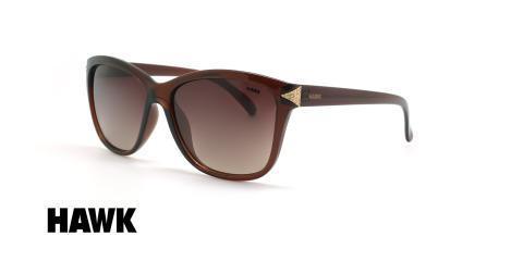 عینک آفتابی پولاریزه هاوک - HAWK POLARIZED HW1626 - قهوه ای - عکاسی وحدت - زاویه سه رخ