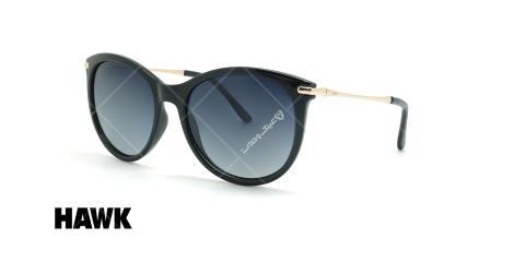 عینک آفتابی پلاریزه هاوک - HAWK POLARIZED HW1635 - مشکی - عکاسی وحدت - زاویه سه رخ