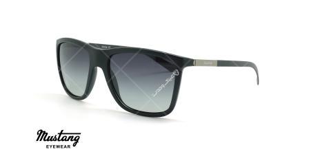 عینک آفتابی مربعی موستانگ - MUSTANG MU1807 - مشکی - عکاسی وحدت - زاویه سه رخ