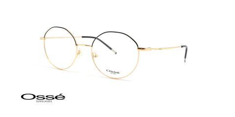 عینک طبی گرد فلزی  - OSSE OS12214 - عکاسی وحدت - عکس از زاویه سه رخ