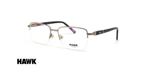 عینک طبی مردانه زیرگریف هاوک - HAWK HW7398 - عکاسی وحدت - عکس زاویه سه رخ