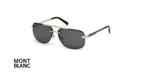 عینک آفتابی دوپل مونت بلانک -  MONTBLANC MB510S- فریم طلایی و عدسی سبز - اپتیک وحدت - عکس زاویه سه رخ