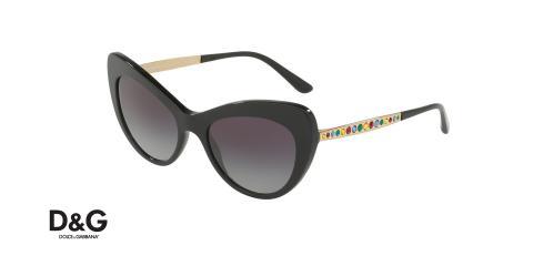 عینک آفتابی گربه ای دولچه و گابانا -  DOLCE & GABBANA DG4307 - رنگ مشکی - اپتیک وحدت - عکس زاویه سه رخ