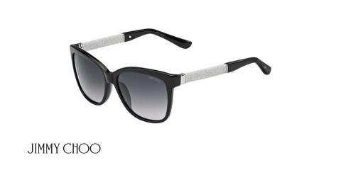 عینک آفتابی کائوچویی جیمی چو - JIMMY CHOO CORA/S - فریم مشکی - اپتیک وحدت - عکس زاویه سه رخ