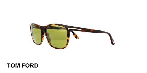 عینک آفتابی تام فورد - TOMFORD TF629 - قهوه ای هاوانا - اپتیک وحدت - عکس زاویه سه رخ