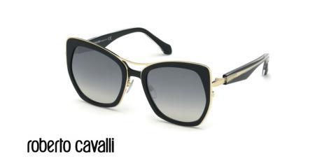 عینک آفتابی پروانه ای زنانه روبرتو کاوالی -  ROBERTO CAVALLI RC1093 - رنگ فریم مشکی - اپتیک وحدت - عکس زاویه سه رخ