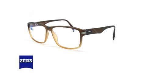 عینک طبی کائوچویی زایس ZEISS ZS20002 - قهوه ای طیف دار - عکاسی وحدت - زاویه سه رخ