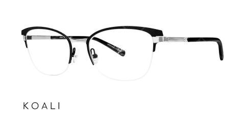 عینک طبی گربه ای کوالی -  KOALI 20034K- رنگ فریم مشکی - اپتیک وحدت- عکس زاویه سه رخ