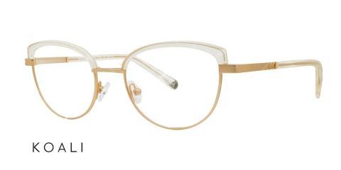 عینک طبی گربه ای کوالی - KOALI 20035K - اپتیک وحدت - رنگ فریم طلاییو شیشه ای - عکس زاویه سه رخ