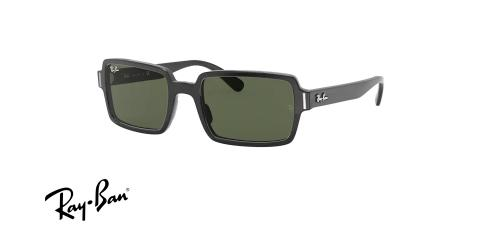 عینک آفتابی کائوچویی مستطیل ری بن مدل بِنجی - Ray Ban BENJI RB2189 - عکس از زاویه سه رخ