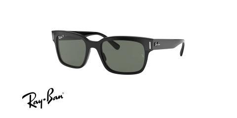 عینک آفتابی کائوچویی پلاریزه ری بن مدل جفری - Ray Ban JEFFREY RB2190 - عکس از زاویه سه رخ