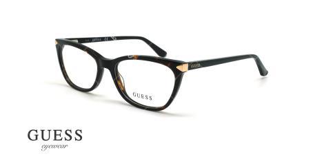 عینک طبی گربه ای گس - GUESS GU2668 - قهوه ای هاوانا - عکاسی وحدت - زاویه سه رخ